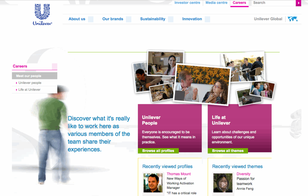 Unilever Careers Website