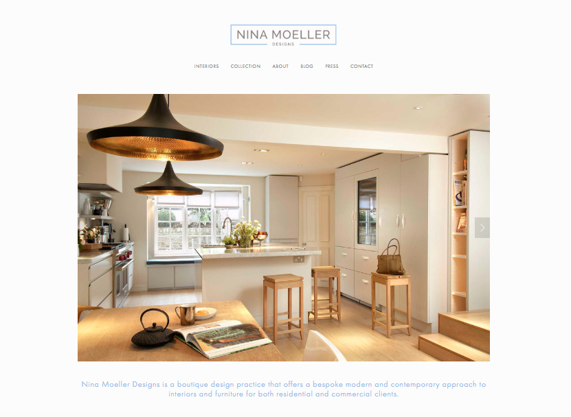 Nina Moeller Designs - Website Redesign