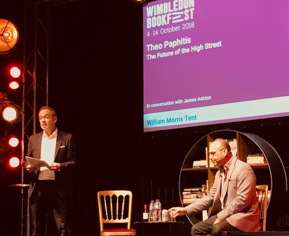 Theo Paphitis - The future of the high street, Wimbledon Bookfest event