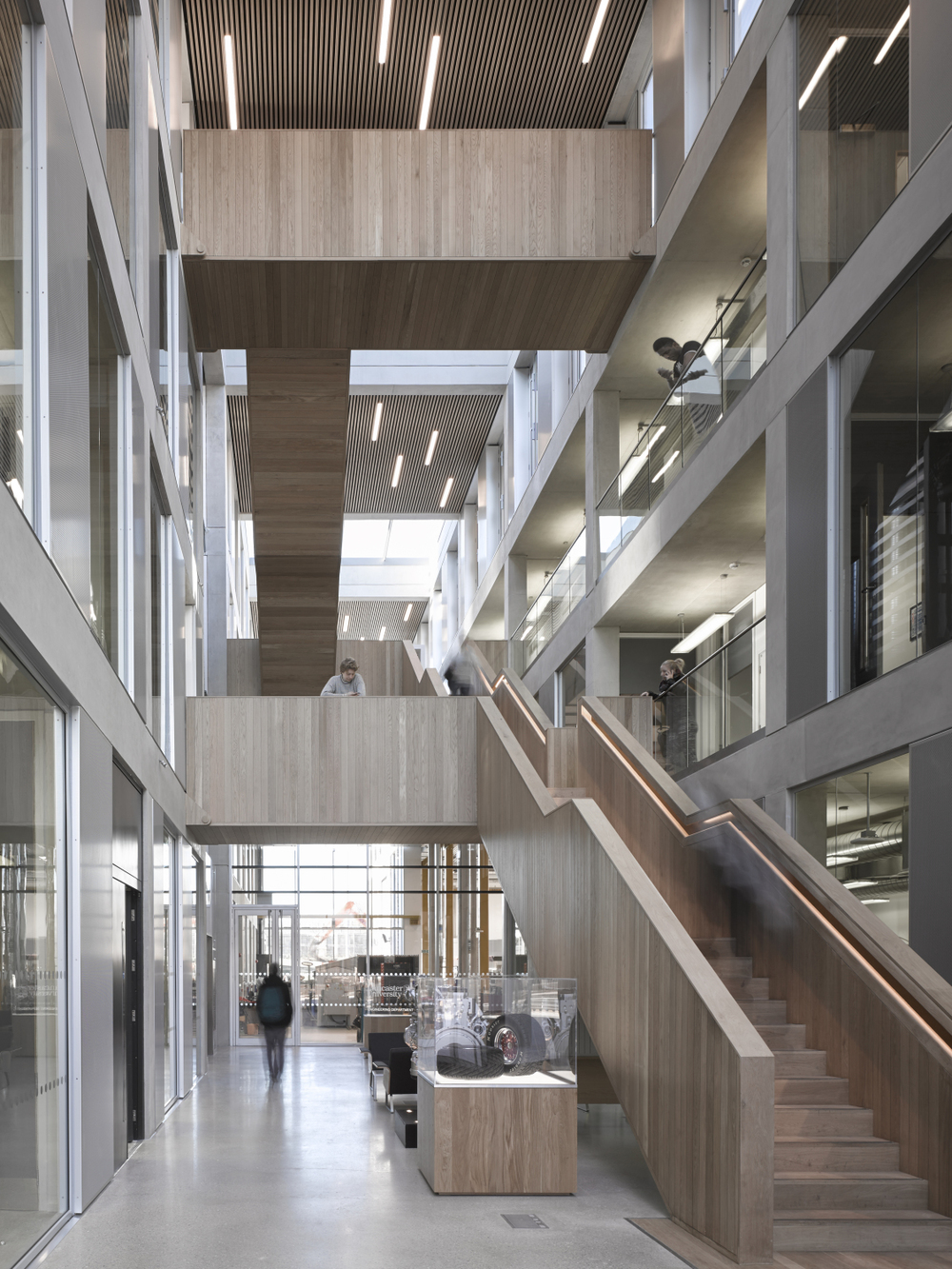 Inside the Lancaster University Engineering Building