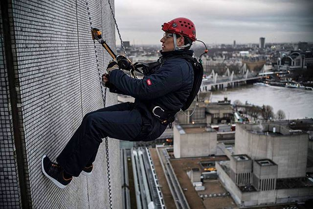 An epic views of London in this snap by @jimmy_chin from his abseil down the @itv towers. #merufilm is out on DVD & Blu-Ray this Monday in the UK. (Pre-order link in bio)