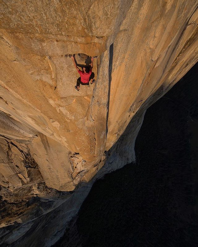 An achievement that surpasses the bounds of human comprehension. Luckily, @mochinyc and @jimmy_chin had the vision to offer a glimpse into the determination and emotion behind @alexhonnold's #FreeSolo ascent of El Capitan. #FreeSoloFilm | @freesolofilm  Photo: @jimmy_chin
