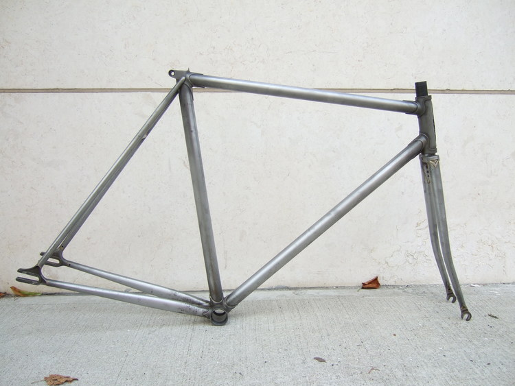 Custom raw lugged steel track frame - 52cm - Reynolds 531 —