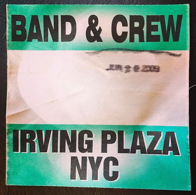 One of the best stages in NYC #bringingitwayback #nyc #bandlife