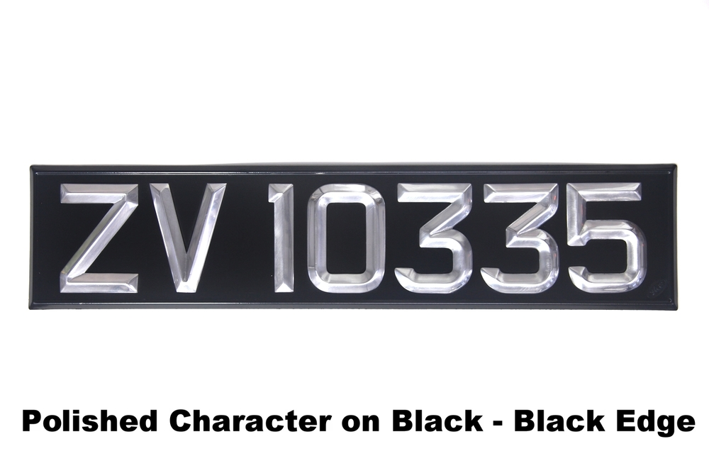 Polished Character on Black - Black Edge