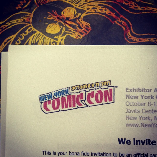 Gettin our paperwork together. Who's going!? #NYCC
