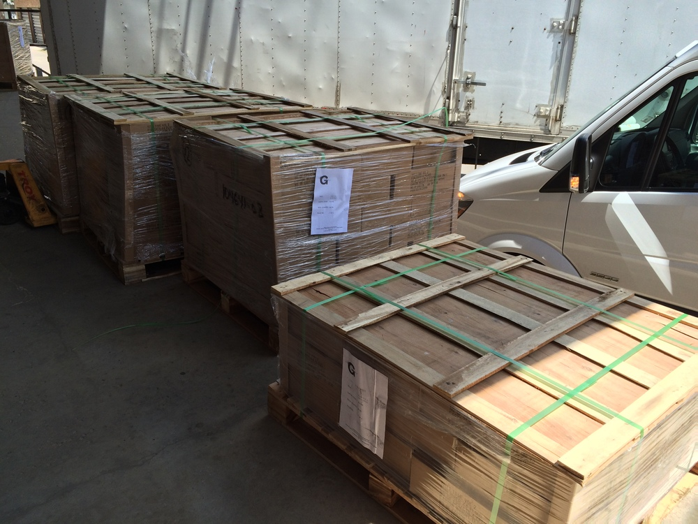 Just a few of the pallets on the dock