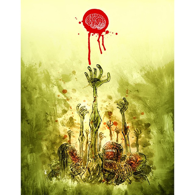 "Closeup of the limited edition 8.5x11"" print by @templesmith. Offered for one week only at 44flood.bigcartel.com"