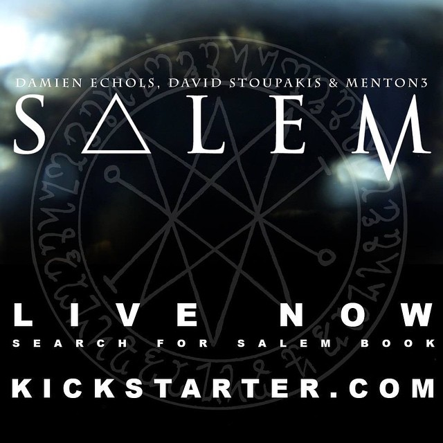 "SALEM will be written by Damien Echols and will be a 9x13.5"" hardcover book at 72 pages. The book will feature the artworks Damien, David Stoupakis, and menton3 create for the gallery show. #darkart"
