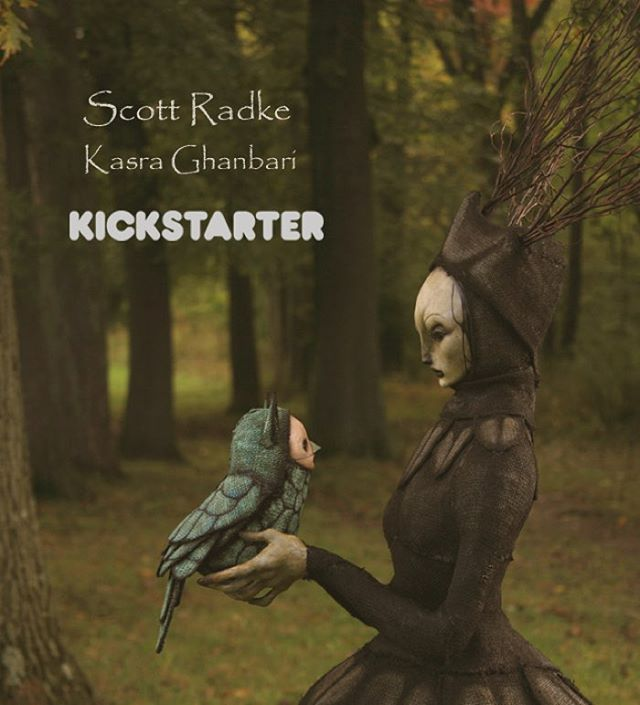 From 44FLOOD's @kasraghanbari comes the first art book of @scottradkeart . Available on Kickstarter now!