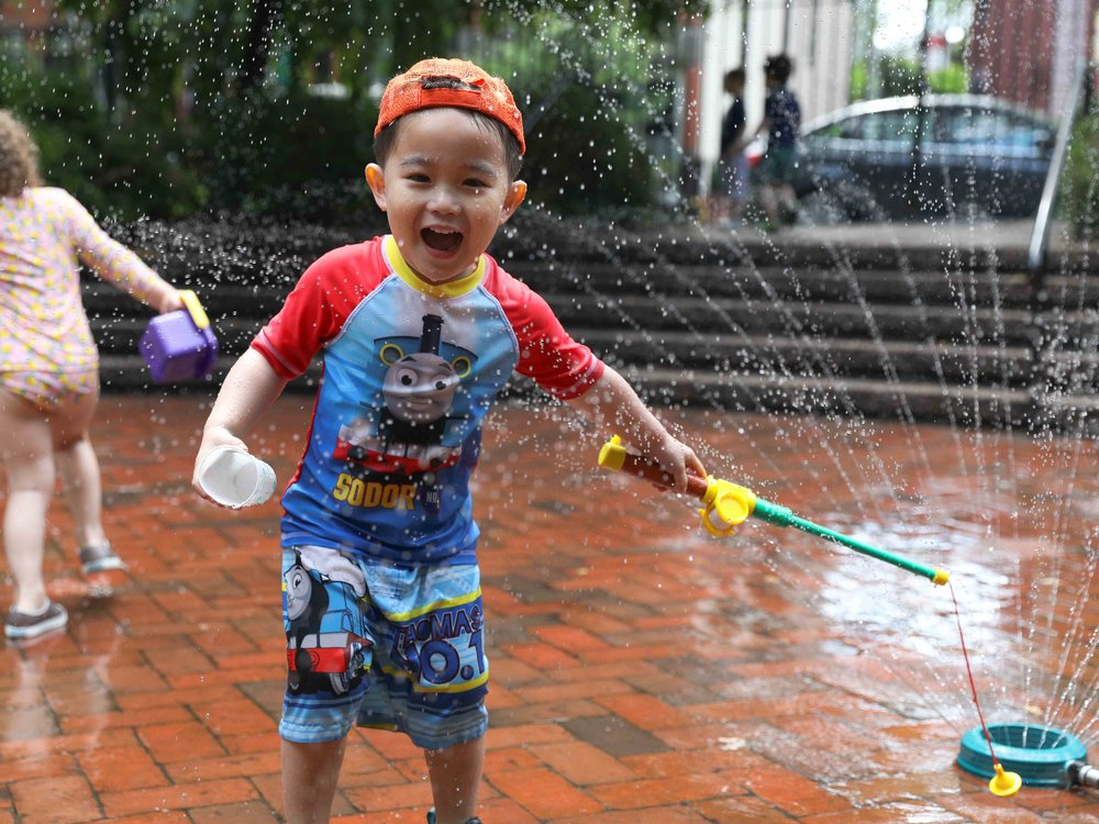 Unrivaled Facilities - We love making messy art projects and running through sprinklers in our award-winning, private yard. Campers also have access to their own fully stocked classrooms with AC - because, ya know, it gets a little hot in the summer.