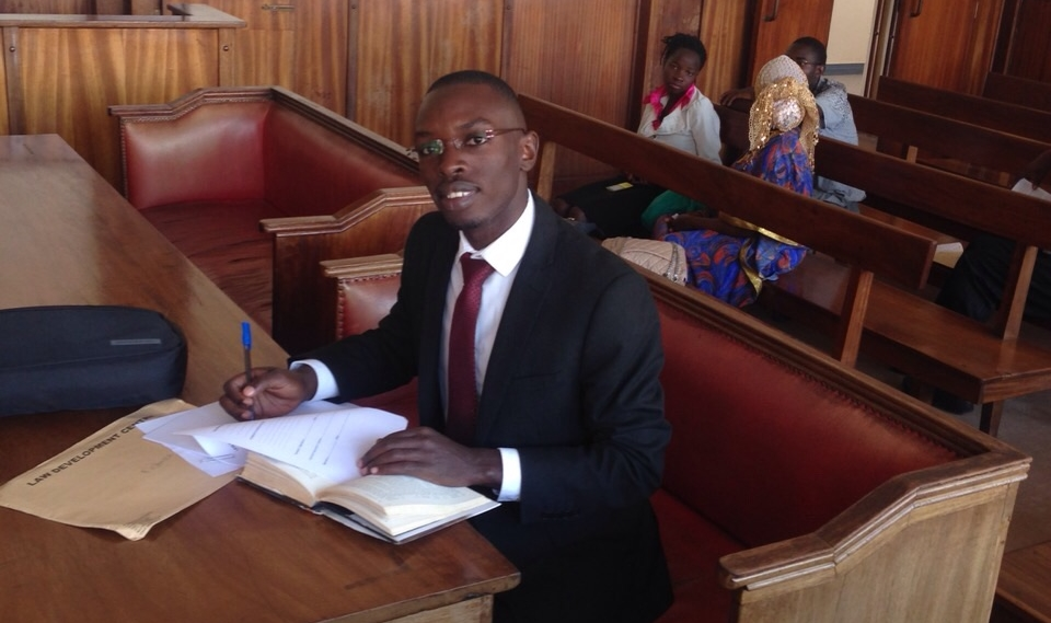 Paul on placement in Buganda Road Court, Kampala, Uganda