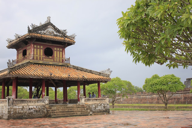 Outside the entrance to the citadel, Hue