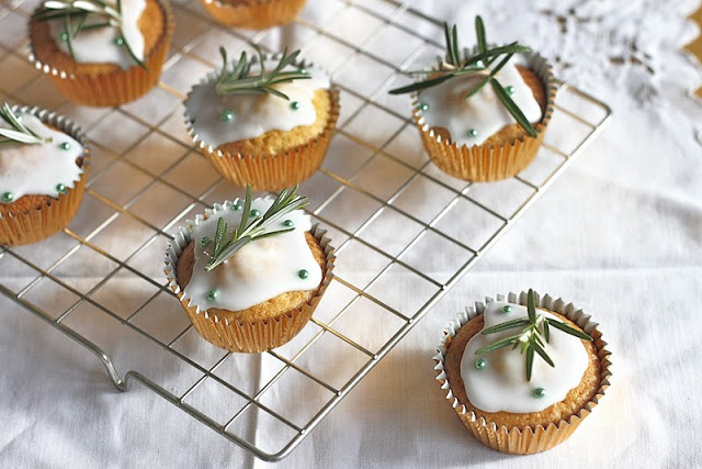 Rosemary Honey Cupcakes, Nutmegs, Seven