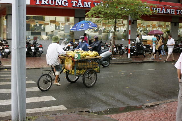 A banana seller in Saigon