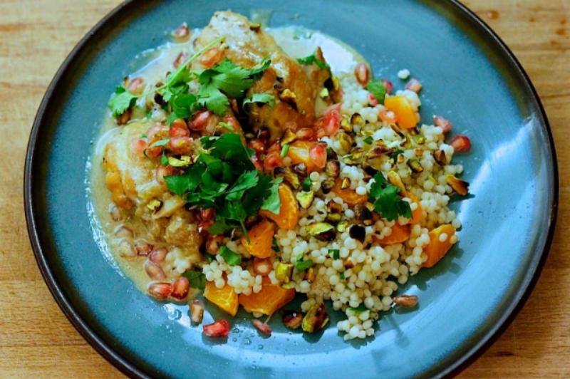 ... couscous with orange pistachio pomegranate pomegranate mint couscous