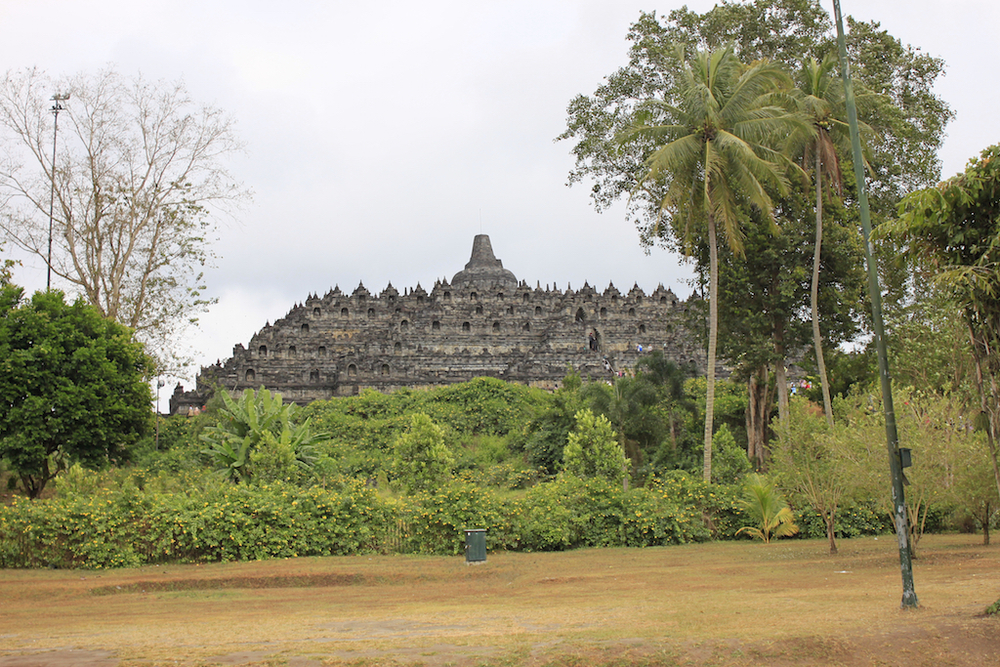 Borobodur from the ground.