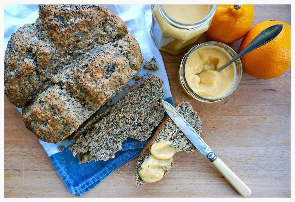 Poppy seed soda bread with homemade lemon curd — Nutmegs ...