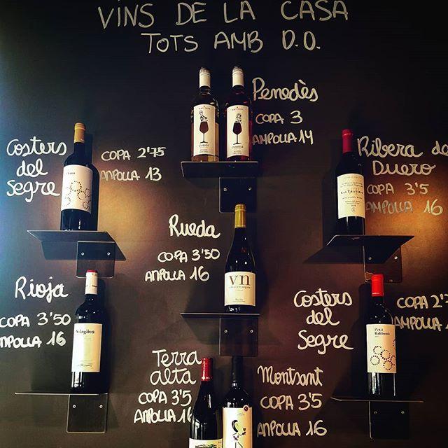 Els nous vins de la Casa, també hem estrenat nova Carta de Vins,vins de qualitat a molt bon preu,vine a catar-los! #TavernaGuilà  #vinsterrassa