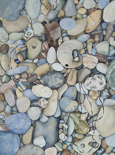 Pescadero Beach Pebbles, archival Giclée print, two sizes available: 11x14 and 18x24
