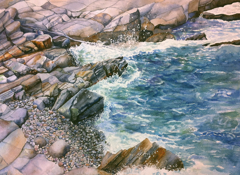 Rocky-Cove-Seascape-D-Gayle-Mahoney
