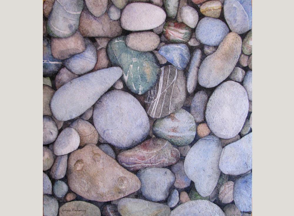 Tumbled Beach Pebbles II
