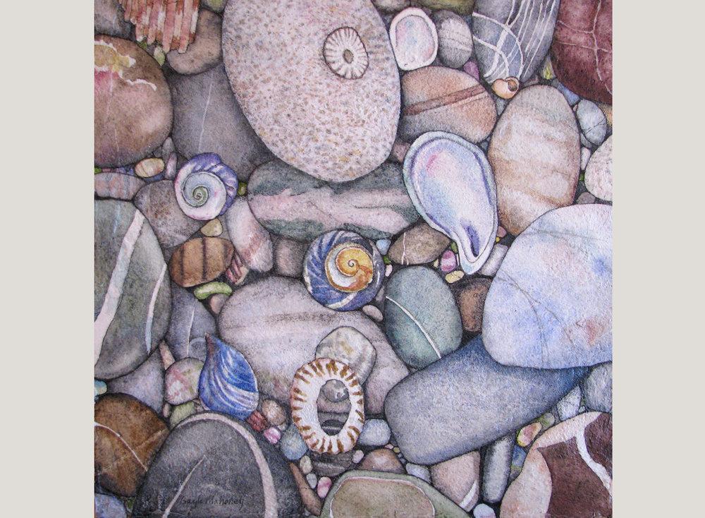 Tumbled Beach Pebbles III