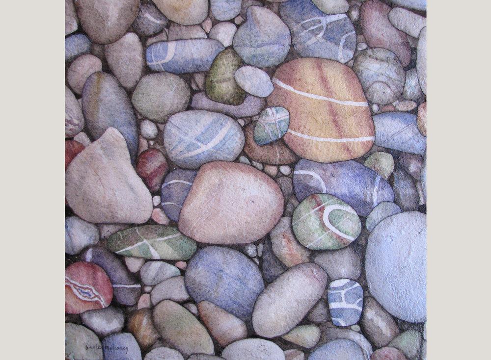 Tumbled Beach Pebbles IV