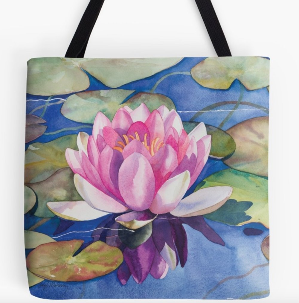 Pink Water Lily - This design is available in men's, women's and kids' apparel, home decor and gift items.