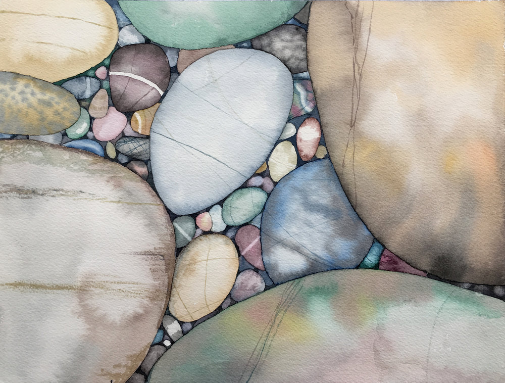 ©Gayle Mahoney - Muted tones - Marabu Graphix Aqua Watercolor Inks with Marabu Graphix Fine Liner pens on Arches cold press watercolor paper - although colors are vibrant straight from the bottle, they are lovely when diluted with water for natural tones