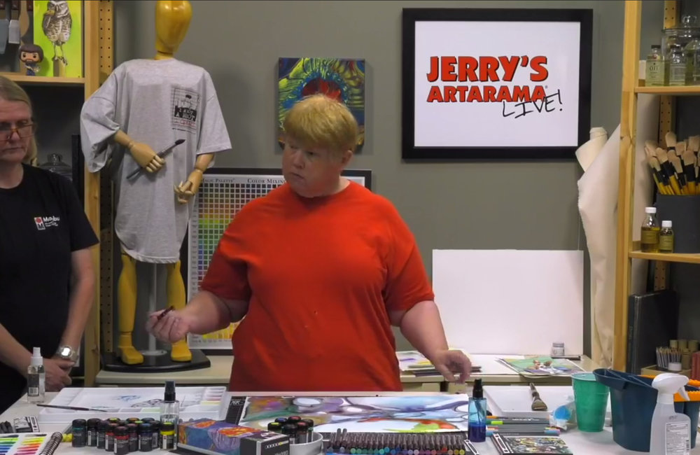 Marabu Graphix Inks - Watch my demo video for Jerry's Artarama
