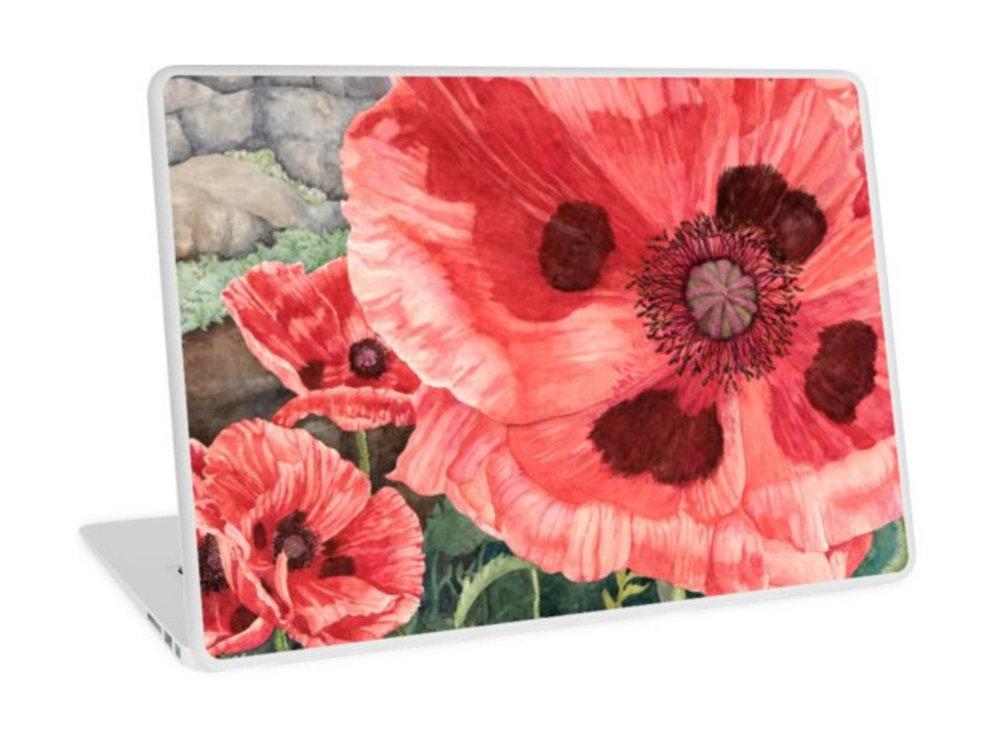 Red Poppies laptop skin.jpg