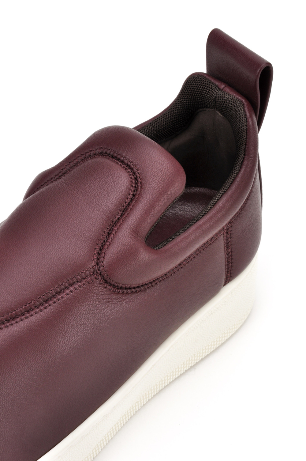 CELINE NAPPA STRETCH SNEAKERS IN BURGUNDY