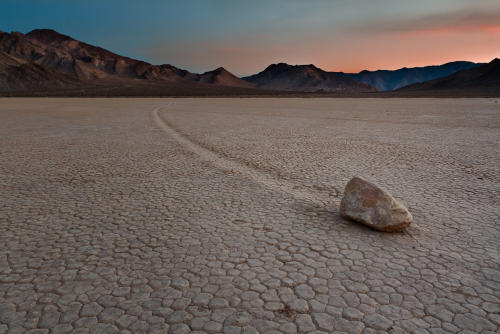 'Sailing Stone' at the Racetrack Playa in Death Valley National Park - ( PHOTO: EDWARD MOLDOVEANU/SHUTTERSTOCK)