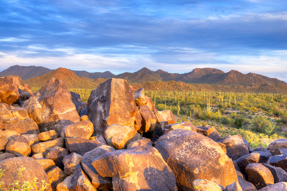 HOHOKAM PETROGLYPHS ON SIGNAL HILL - (PHOTO: ANTON FOLTIN/SHUTTERSTOCK)