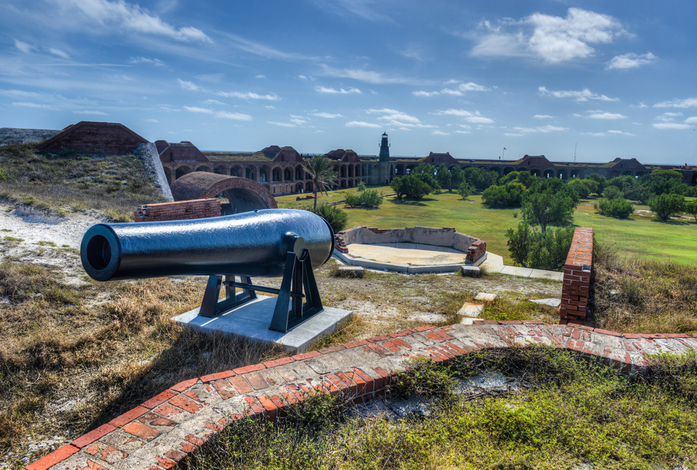 a leftover canon in fort jefferson – (PHOTO: Felix Lipov/SHUTTERSTOCK)