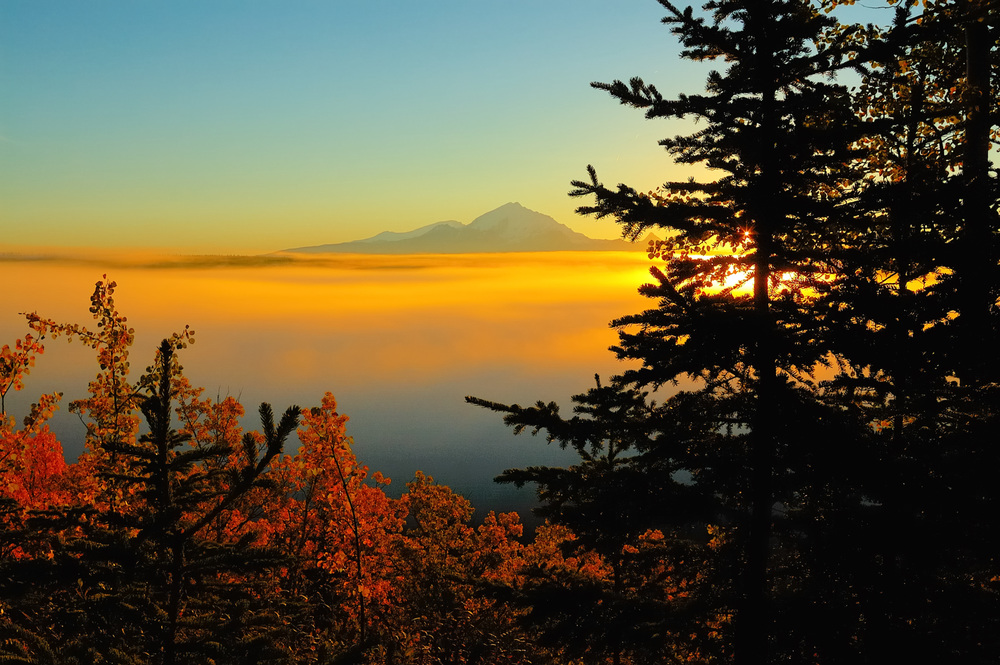 MOUNT DRUM AUTUMN SUNRISE