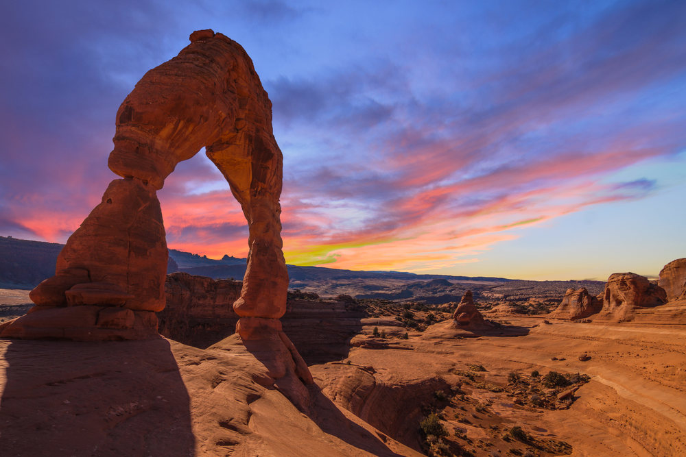 DELICATE ARCH SUNSET
