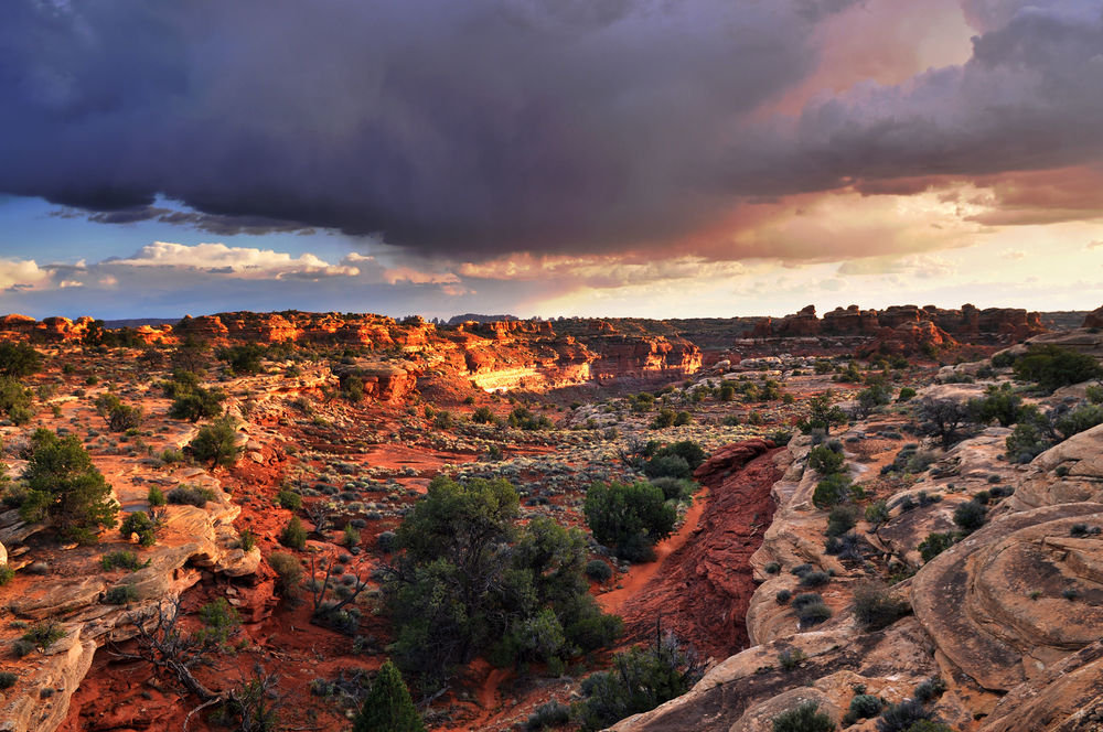 STORMY SKIES OVER NEEDLES DISTRICT