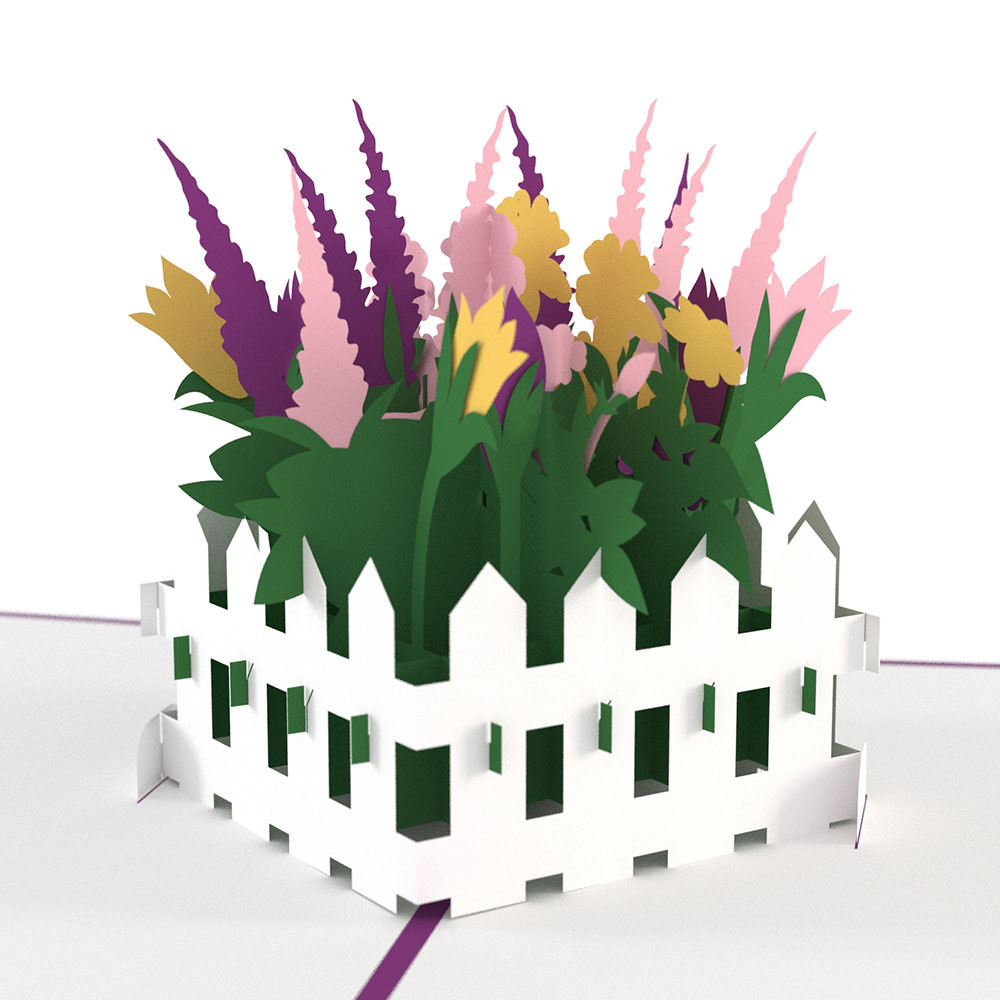 Flower Garden 3d Pop Up Card Purple Moose Basics National Park
