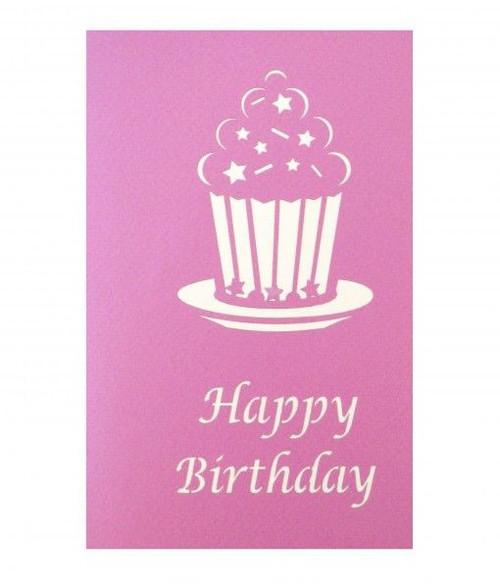 Cupcake Birthday 3D Pop Up Card Purple Moose Basics – Cupcake Birthday Cards