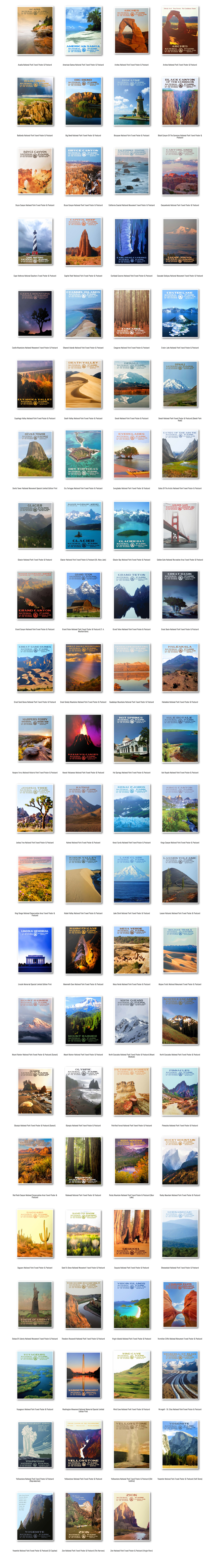 National Park Posters For Kickstarter