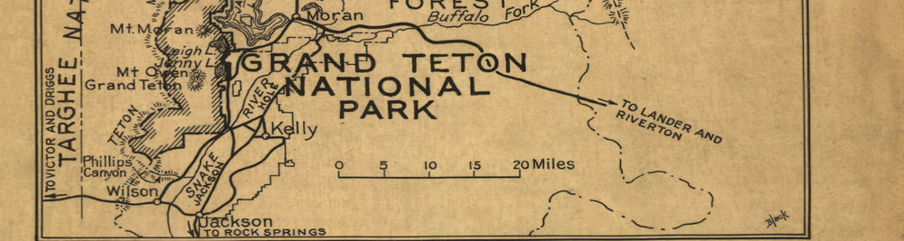 Yellowstone National Park Map 1929