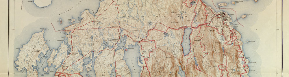 Acadia National Park Map 1942