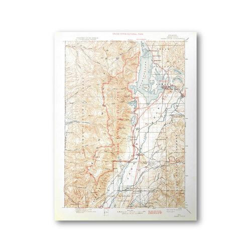 Grand Teton National Park USGS Historical Topo Map Purple - Historical topo maps