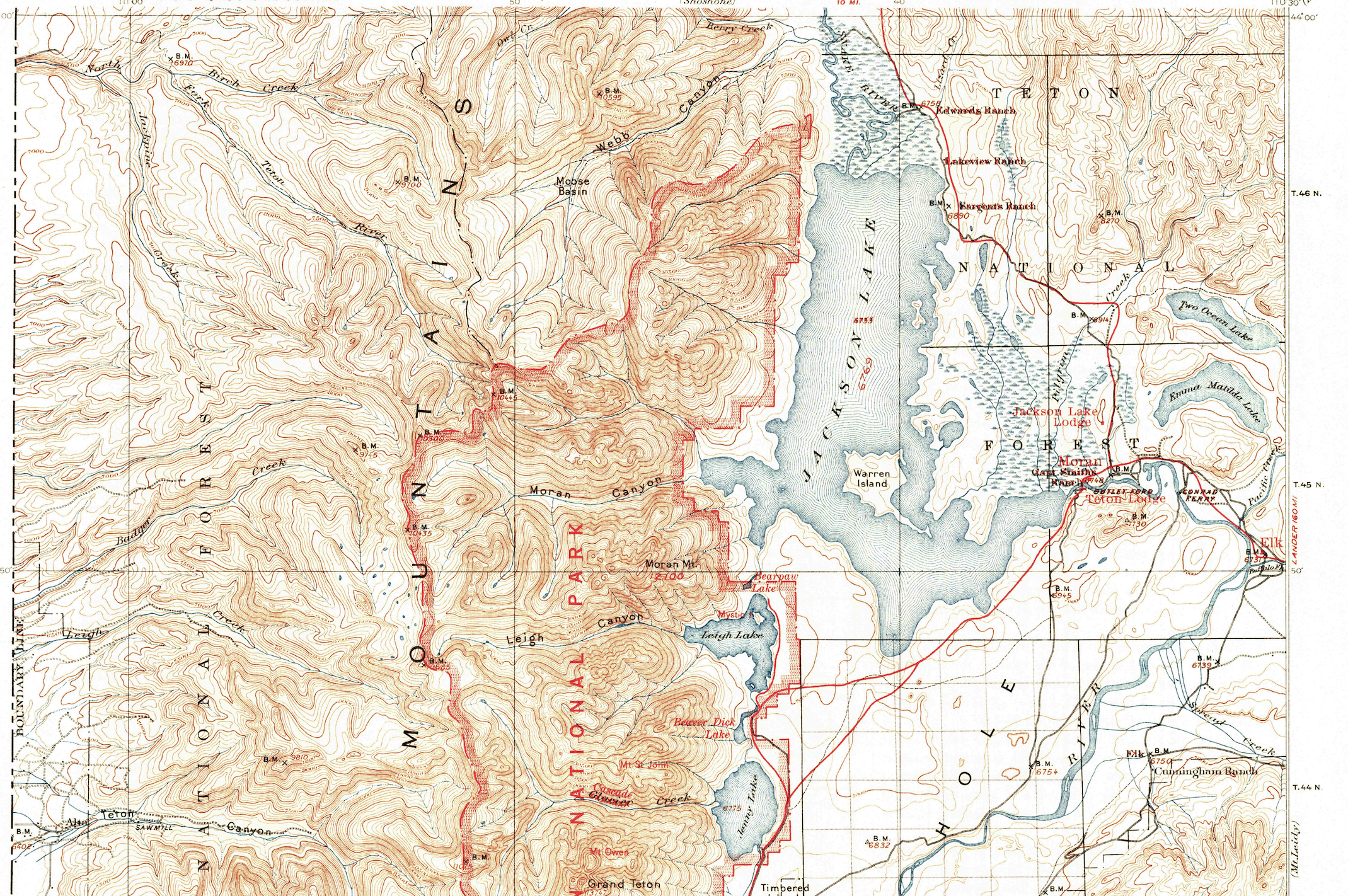Yellowstone National Park Topographic Map.Grand Teton National Park 1901 Usgs Historical Topo Map Purple