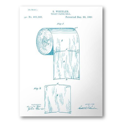Toilet paper patent poster toilet paper patent art blueprint art toilet paper patent poster toilet paper patent art blueprint art patent wall art bathroom patent print bathroom art malvernweather Images