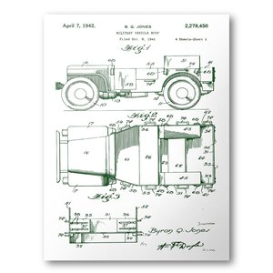 Jeep patent poster 1942 willys mb jeep patent art blueprint jeep patent poster 1942 willys mb jeep patent art blueprint patent print malvernweather Gallery