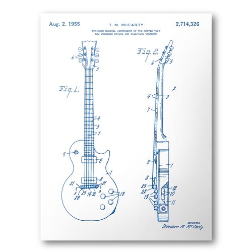 Gibson les paul guitar patent poster guitar patent art blueprint gibson les paul guitar patent poster guitar patent art blueprint art patent wall art les paul patent print patent art home decor malvernweather Gallery
