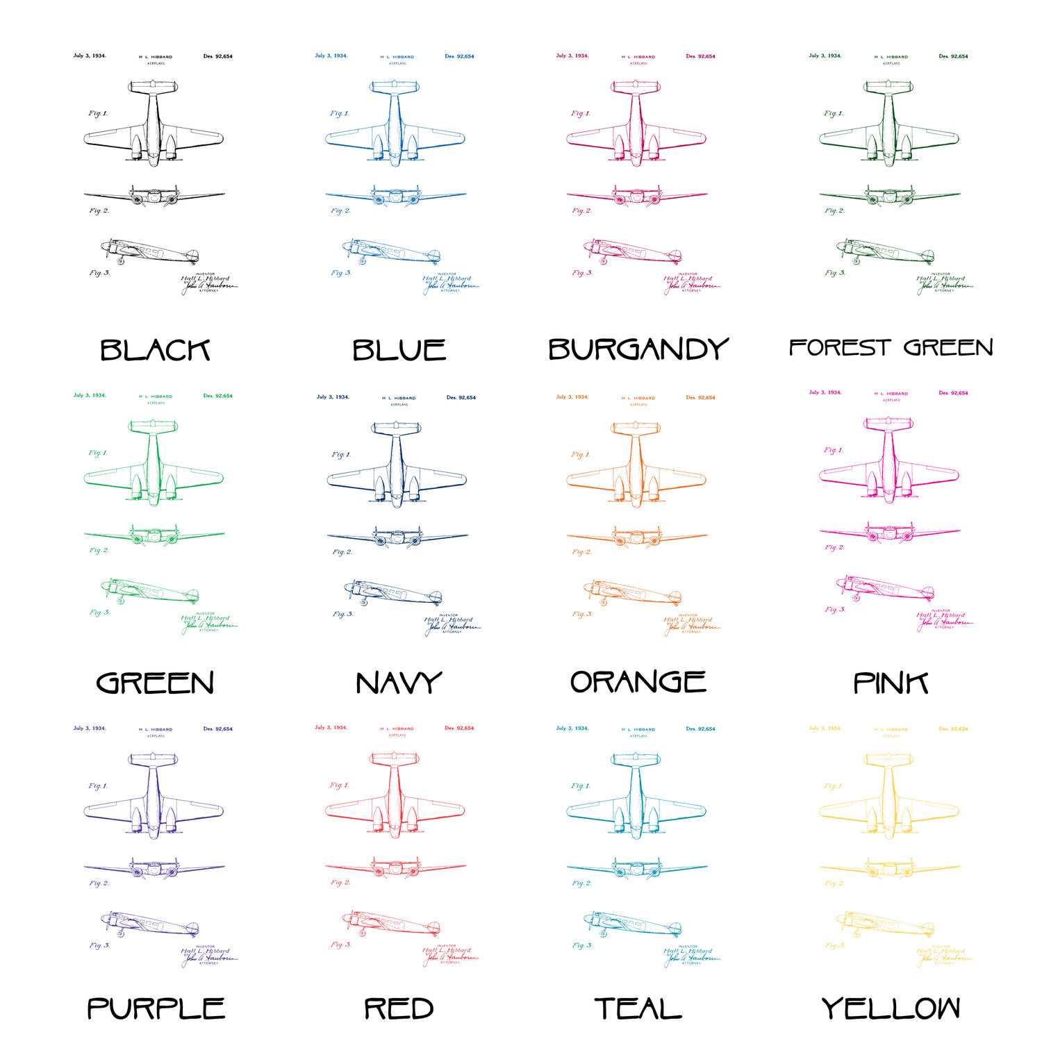 Airplane patent poster lockheed electra airplane patent poster airplane patent poster lockheed electra airplane patent poster patent art blueprint art patent wall art airplane patent print malvernweather Gallery